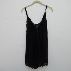 NWT Avid Love Womens Black Lace Babydoll Nightwear